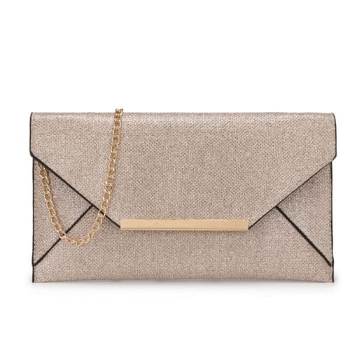 Vikson Gold Envelope Clutch